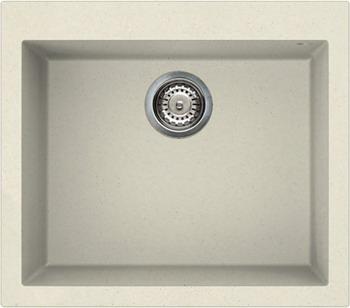 Кухонная мойка Elleci QUADRA 105  granitek (62) Bianco Antico LGQ 10562
