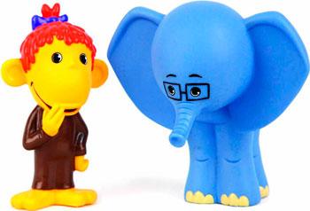 цены Набор игрушек для купания Затейники GT 5978 Мартышка и Слоник в пакете