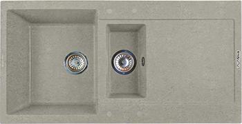 Кухонная мойка LAVA D.5 (SCANDIC серый) кухонная мойка lava q 1 scandic серый