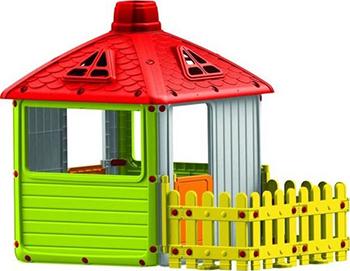 Детский игровой домик Dolu Городской дом с ограждением DL_3011 игровые домики dolu игровой домик для улицы городской дом