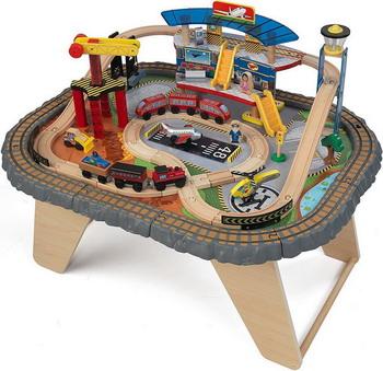 Железная дорога KidKraft Транспортный Хаб 17564_KE деревянная железная дорога kidkraft наш город 80 элементов со столом