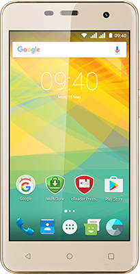 Мобильный телефон Prestigio Muze G3 Dual SIM Gold ноутбук lenovo ideapad 320 15isk 15 6 1366x768 intel core i3 6006u 256 gb 4gb nvidia geforce gt 920mx 2048 мб черный windows 10 home