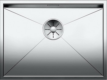 Кухонная мойка BLANCO ZEROX 550-IF нерж. сталь зеркальная полировка 521590 смеситель для кухонной мойки blanco levos s зеркальная нержавеющая сталь 514918