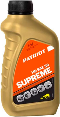 Масло Patriot SUPREME HD SAE 30 4T 0 592л 850030629 масло patriot supreme hd sae 30 4t 0 592 л