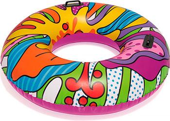 Надувной круг для плавания с ручками BestWay Поп-арт 91 от 12 лет 36125 BW