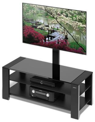 Стойка Alteza Albero TV-32110 черное стекло itech d605 b коричневый корпус мдф черное стекло черный каркас