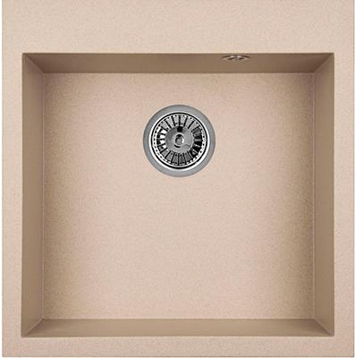 Кухонная мойка Weissgauff QUADRO 505 Eco Granit бежевый  weissgauff quadro 775k eco granit белый