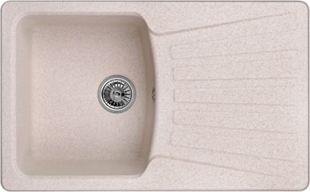 Кухонная мойка Weissgauff CLASSIC 800 Eco Granit светло-бежевый  weissgauff corner 890 eco granit светло бежевый