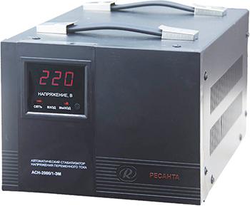 Стабилизатор напряжения Ресанта ACH - 2 000/1 - ЭМ стабилизатор напряжения ресанта ach 8 000 1 эм