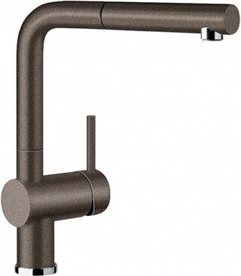 Кухонный смеситель BLANCO LINUS-S SILGRANIT темная скала  смеситель linus rock grey 518814 blanco