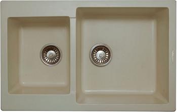 Кухонная мойка LAVA D.3 (VANILLA ваниль) кухонная мойка ukinox stm 800 600 20 6