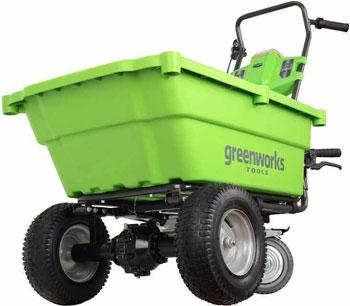 Садовая самоходная тележка Greenworks 40 V G-max без аккумулятора и зарядного устройства 7400007 сменный нож greenworks 40 см