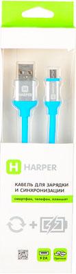 Кабель Harper micro USB SCH-330 blue кабель maverick usb micro usb 1 5 м витой черный