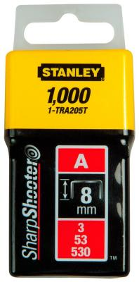 Скоба для степлера Stanley 8 мм тип ''А'' (5/53/530) 1000шт 1-TRA 205 T резинка дк круглая d 2 5 20м