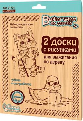 Доска для выжигания Десятое Королевство Утенок и Кот рыболов 01774ДК колодинский д кот рыболов аппликация для детей 4 6 лет