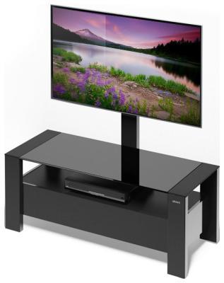 Стойка Alteza Albero TV-34110 черное стекло itech d605 b коричневый корпус мдф черное стекло черный каркас