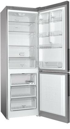 Двухкамерный холодильник Hotpoint-Ariston HF 5180 S холодильник hotpoint ariston hf 5200 s двухкамерный серебристый