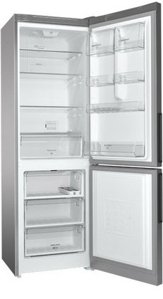 Двухкамерный холодильник Hotpoint-Ariston HF 5180 S холодильник с нижней морозильной камерой hotpoint ariston hf 4200 w