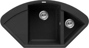 Кухонная мойка Elleci EASY CORNER  granitek (40) full black LGYCOR 40 мойка кухонная elleci ego 480 1000x500 granitek 62 lge48062
