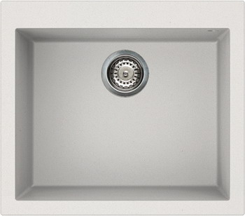 Кухонная мойка Elleci QUADRA 105  granitek (68) Bianco titano LGQ 10568 мойка кухонная elleci easy 135 680x500 granitek 51 lgy13551