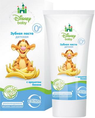 Зубная паста Свобода Disney baby с ароматом банана disney baby disney baby детей с короткими рукавами футболки 3523560f11 мелкий цветок пепел 110