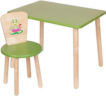 Набор из стола и стула РУСЭКОМЕБЕЛЬ Эко Зеленый