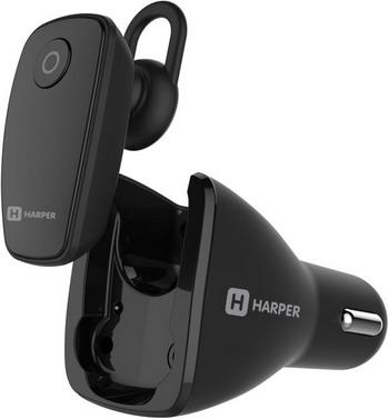 Вставные наушники Harper HBT-1723 black гарнитура беспроводная плюс автомобильная зарядка harper hbt 1723 black
