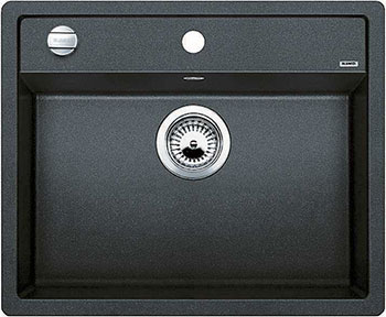 Кухонная мойка BLANCO DALAGO 6-F SILGRANIT антрацит с клапаном-автоматом мойка blanco classik 45s silgranit 521308 антрацит