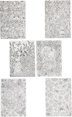 Набор для раскрашивания Bondibon Набор раскрасок антистресс В саду  6 листов 30х21 см ВВ1712