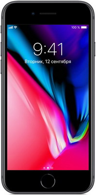Смартфон Apple iPhone 8 256 ГБ серый космос (MQ7C2RU/A) мобильный телефон apple iphone x 64 гб серый космос mqac2ru a