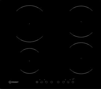 Встраиваемая электрическая варочная панель Indesit VIA 640 0 C варочная панель электрическая indesit via 640 0 c черный