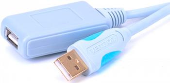 Активный кабель-удлинитель Vention USB 2.0 AM/AF с усилителем 5м кабель удлинитель usb 2 0 am af 1 8m с ферритовыми кольцами позол конт