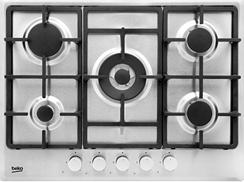 Встраиваемая газовая варочная панель Beko HIAW 75225 SX холодильник beko rcnk365e20zx двухкамерный нержавеющая сталь
