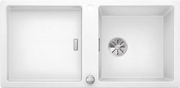 Кухонная мойка BLANCO ADON XL 6S SILGRANIT белый с кл.-авт. InFino 523608 кухонная мойка blanco 523605 adon xl 6s silgranit темная скала с кл авт infino