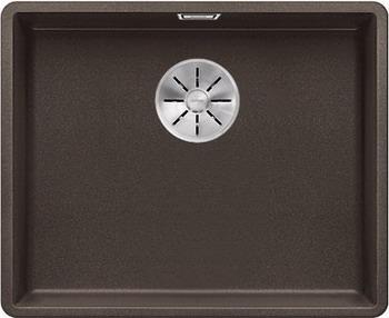 Кухонная мойка BLANCO SUBLINE 500-F кофе с отв.арм. InFino 523537 мойка subline 400 f jasmine 519800 blanco