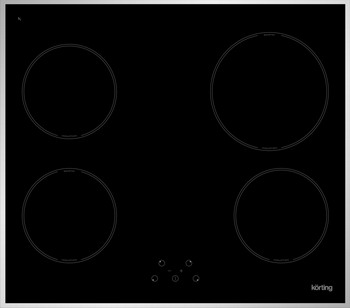 Встраиваемая электрическая варочная панель Korting HI 64021 X встраиваемая индукционная электрическая варочная поверхность korting hi 64021 b