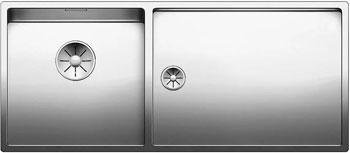 Кухонная мойка BLANCO CLARON 400/550-Т-IF (чаша слева) нерж. сталь зеркальная полировка 521599 кухонная мойка blanco axis iii 6s if чаша слева нерж сталь зеркальная полировка с кл авт 522105