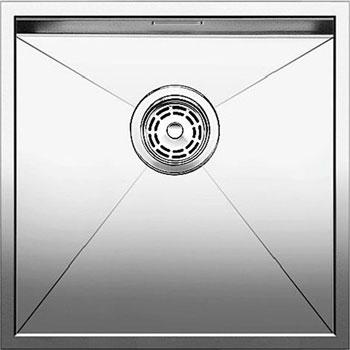 Кухонная мойка BLANCO ZEROX 400-U нерж. сталь зеркальная полировка без клапана авт 521585 blanco zerox 450 u нерж сталь зеркальная