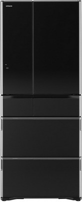 Многокамерный холодильник Hitachi R-G 630 GU XK черный кристалл многокамерный холодильник hitachi r sf 48 gu t светло бежевый