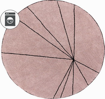 все цены на Ковер Lorena Canals Trace Лучи винтажный розовый 160 D C-TRACE-VINTNU онлайн