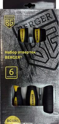 Набор отверток BERGER BG 1061 набор инструмента berger bg 3ssp губцевого 3 в 1
