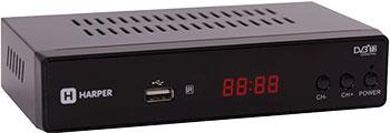 Цифровой телевизионный ресивер Harper HDT2-5010 цифровой телевизионный ресивер bbk smp 016 hdt2 темно серый