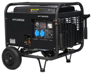 Электрический генератор и электростанция Hyundai HY 7000 SE  зарядное устройство hyundai hy 400