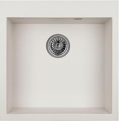 Кухонная мойка Weissgauff QUADRO 505 Eco Granit белый  weissgauff quadro 575 eco granit серый беж