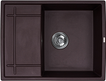 Кухонная мойка Weissgauff QUADRO 650 Eco Granit шоколад  цена и фото