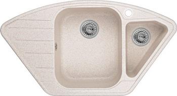 Кухонная мойка Weissgauff CORNER 890 Eco Granit светло-бежевый  weissgauff softline 780 eco granit светло бежевый