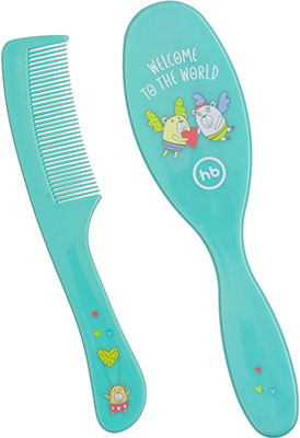 Расчески для волос детские Happy Baby BRUSH COMB SET 17000 MINT two tone handle eye brush set 3pcs