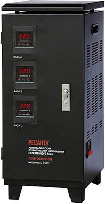 Стабилизатор напряжения Ресанта АСН - 9 000/3 стабилизатор напряжения ресанта асн 9 000 3 эм