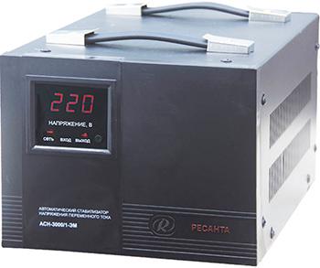 Стабилизатор напряжения Ресанта ACH - 3 000/1 - ЭМ стабилизатор напряжения ресанта ach 3000 3 эм