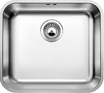 Кухонная мойка BLANCO SUPRA 450-U нерж.сталь полированная с корзинчатым-вентилем  blanco supra 180 u полированная сталь
